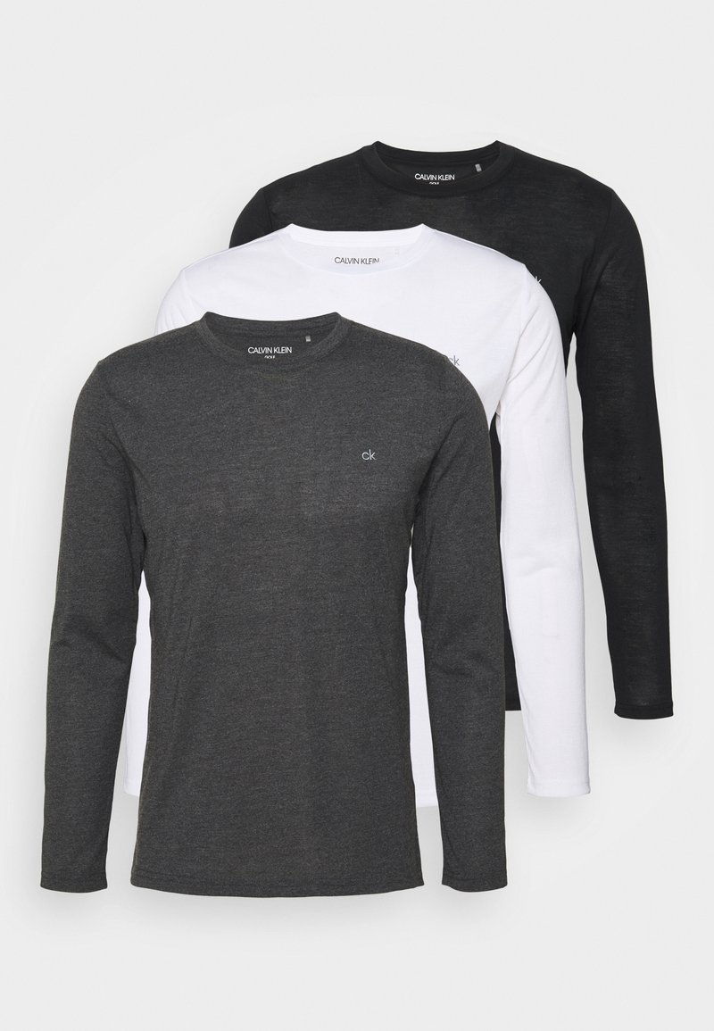 Calvin Klein Golf - LONG SLEEVE 3 PACK - Maglietta a manica lunga - black/white/charcoal