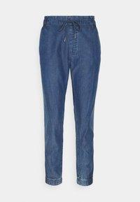 edc by Esprit - JOGGER - Trousers - blue medium wash - 0