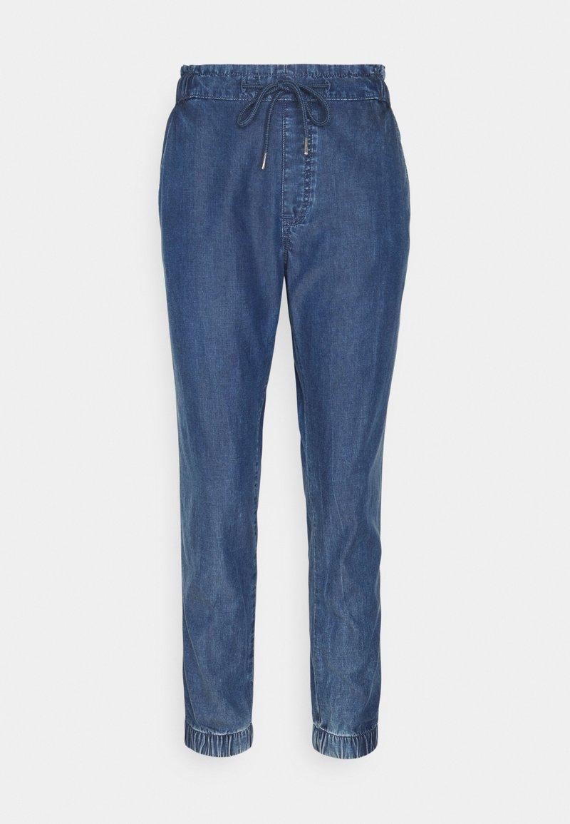 edc by Esprit - JOGGER - Trousers - blue medium wash