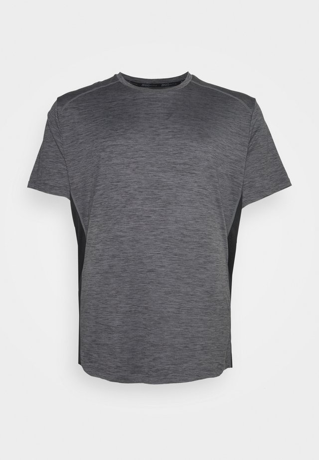 ACTIVE INSERT TEE - Print T-shirt - charcoal