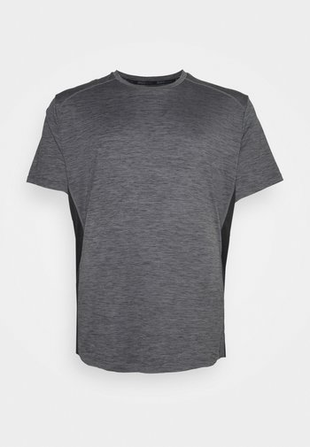 ACTIVE INSERT TEE - T-shirts med print - charcoal