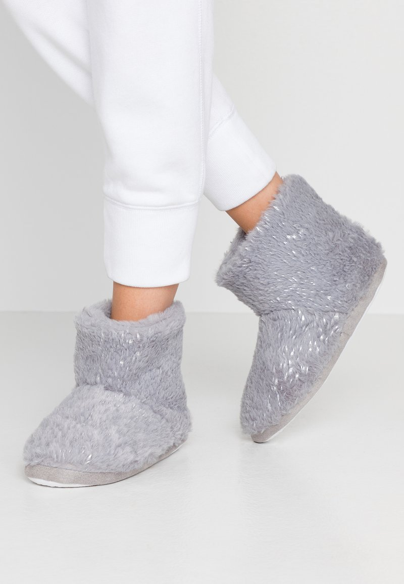 Dorothy Perkins - FLECK BOOTIE - Slippers - light grey