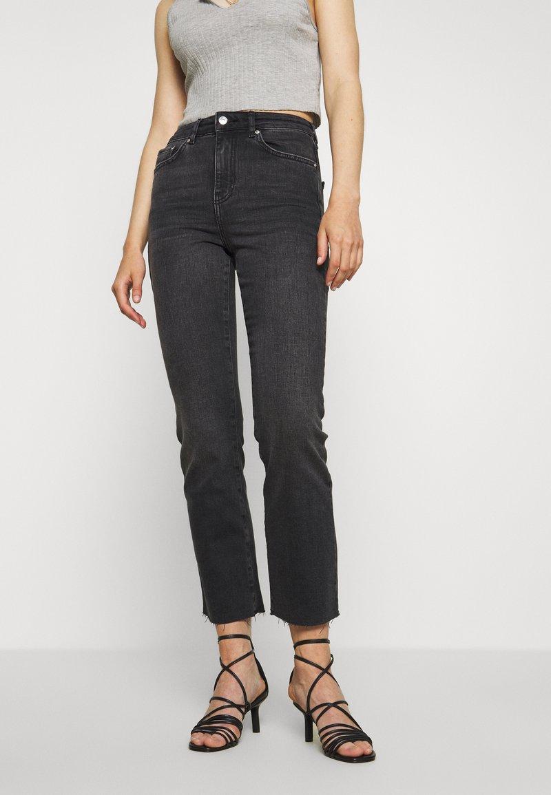 Gina Tricot - YLVA KICKFLARE  - Flared jeans - offblack