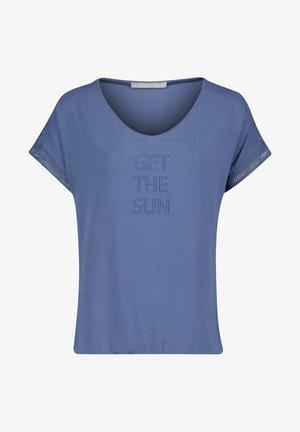 MIT AUFDRUCK - T-shirt print - blau