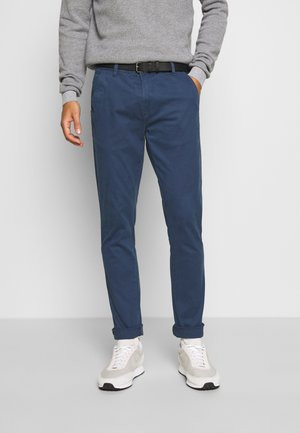 CLASSIC WITH BELT - Chinos - navy