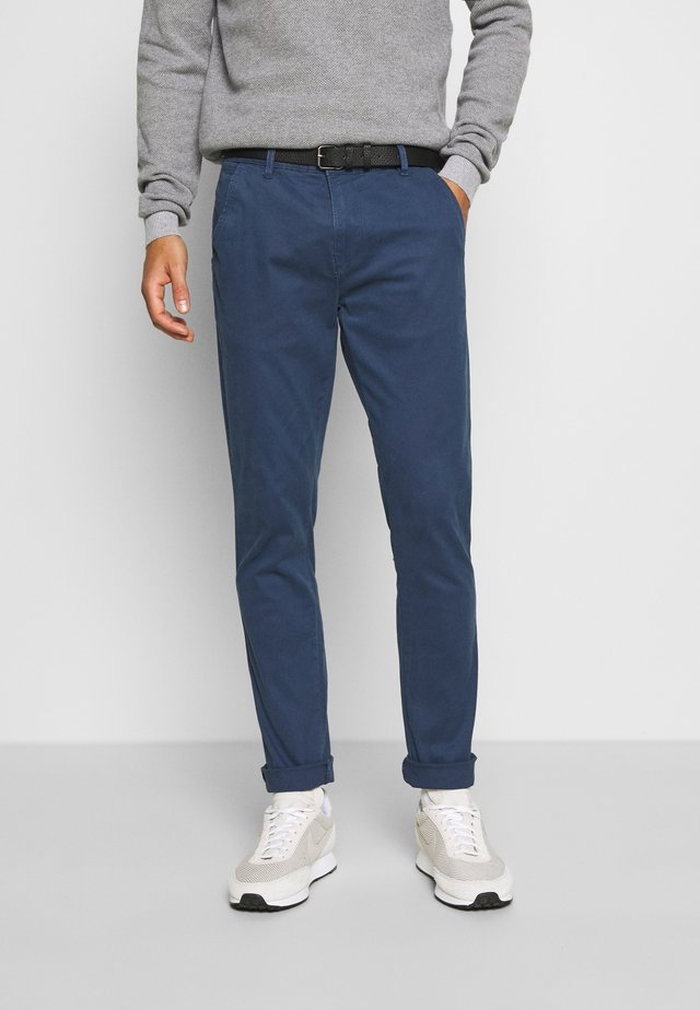 CLASSIC WITH BELT - Chino - navy