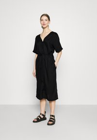 Dedicated - DRESS BORNHOLM - Shirt dress - black - 1