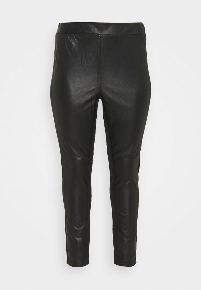 JRCLARA - Leather trousers - black