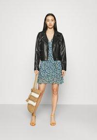 Vila - VIVOLETTE WRAP DRESS - Vestido informal - navy blazer/cottage - 1