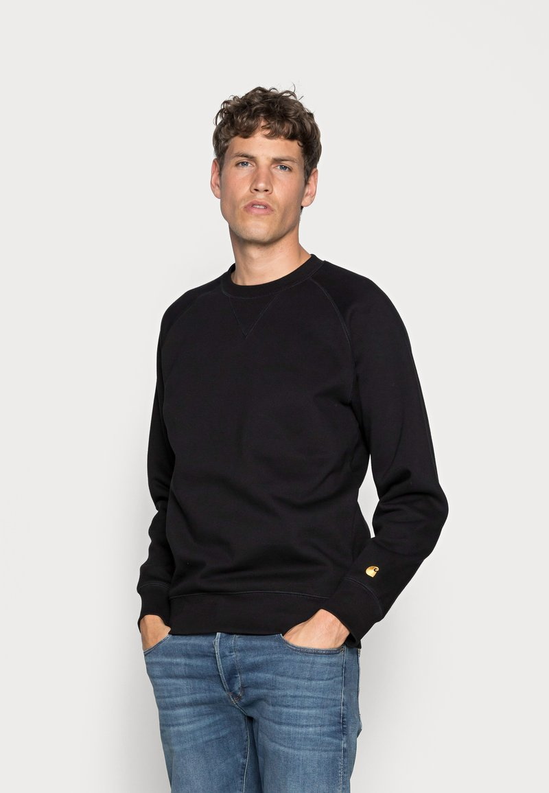 Carhartt WIP - CHASE - Sweatshirt - black/gold
