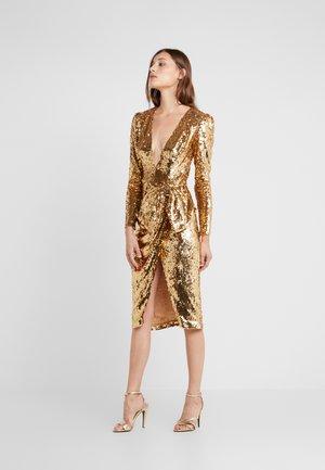 Koktejlové šaty/ šaty na párty - light gold