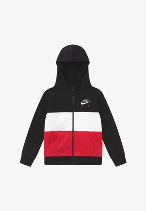 Zip-up hoodie - black/university red