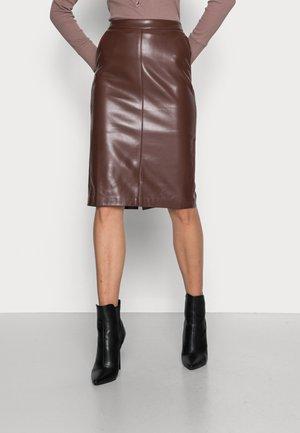 SKIRT PENCIL LONG - Pencil skirt - chocolate