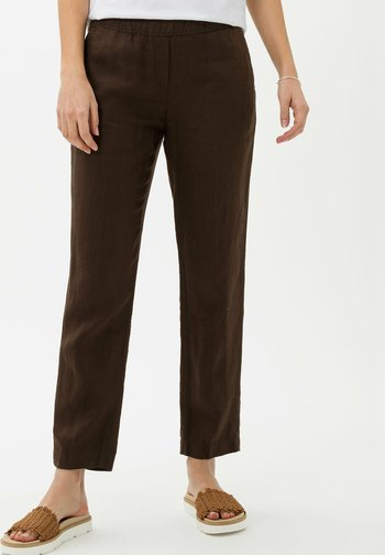 STYLE MARON - Trousers - coffee