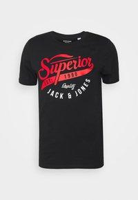 Jack & Jones - JJELOGO TEE - T-shirt imprimé - black - 4