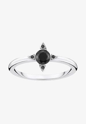 SCHWARZE STEINE - Ring - silber