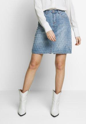 ROBINA  SKIRT - A-line skirt - blue denim