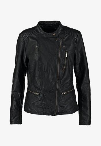 ONLFREYA - Faux leather jacket - black