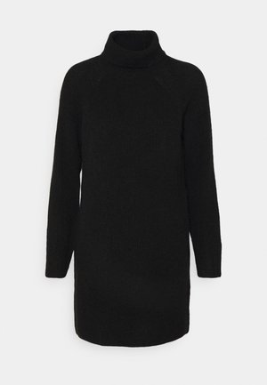 PCELLENHIGH NECK DRESS - Strikket kjole - black