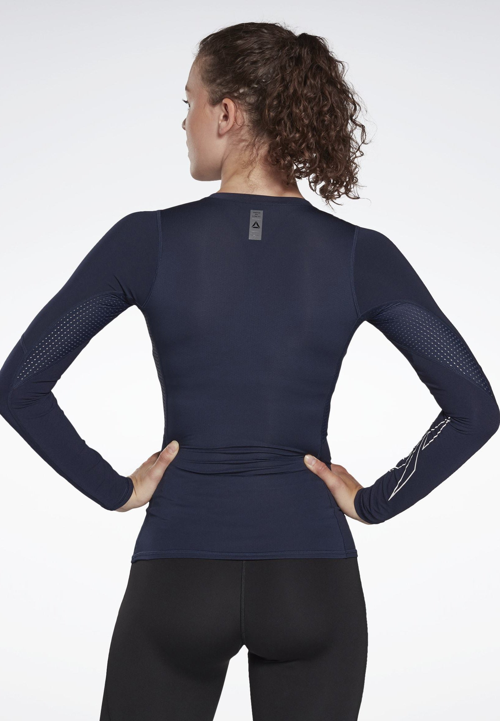 Reebok UNITED BY FITNESS COMPRESSION TEE - Long sleeved top - blue RAMcW