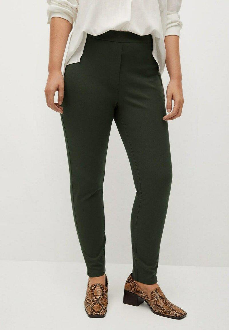 Violeta by Mango - ELASTIC - Trousers - kaki