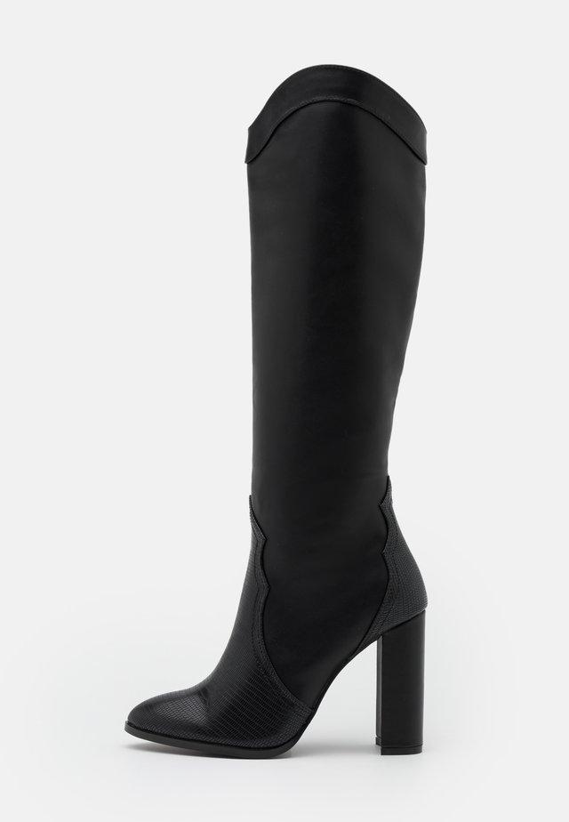 PUDDING - High heeled boots - black