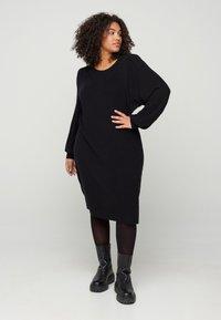 Zizzi - Shift dress - black - 1