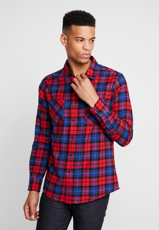 CHECKED  - Shirt - red/royal
