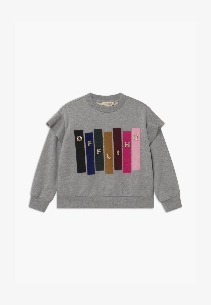 TWINSET - GIROCOLLO STAMPATA - Sweatshirt - mottled grey