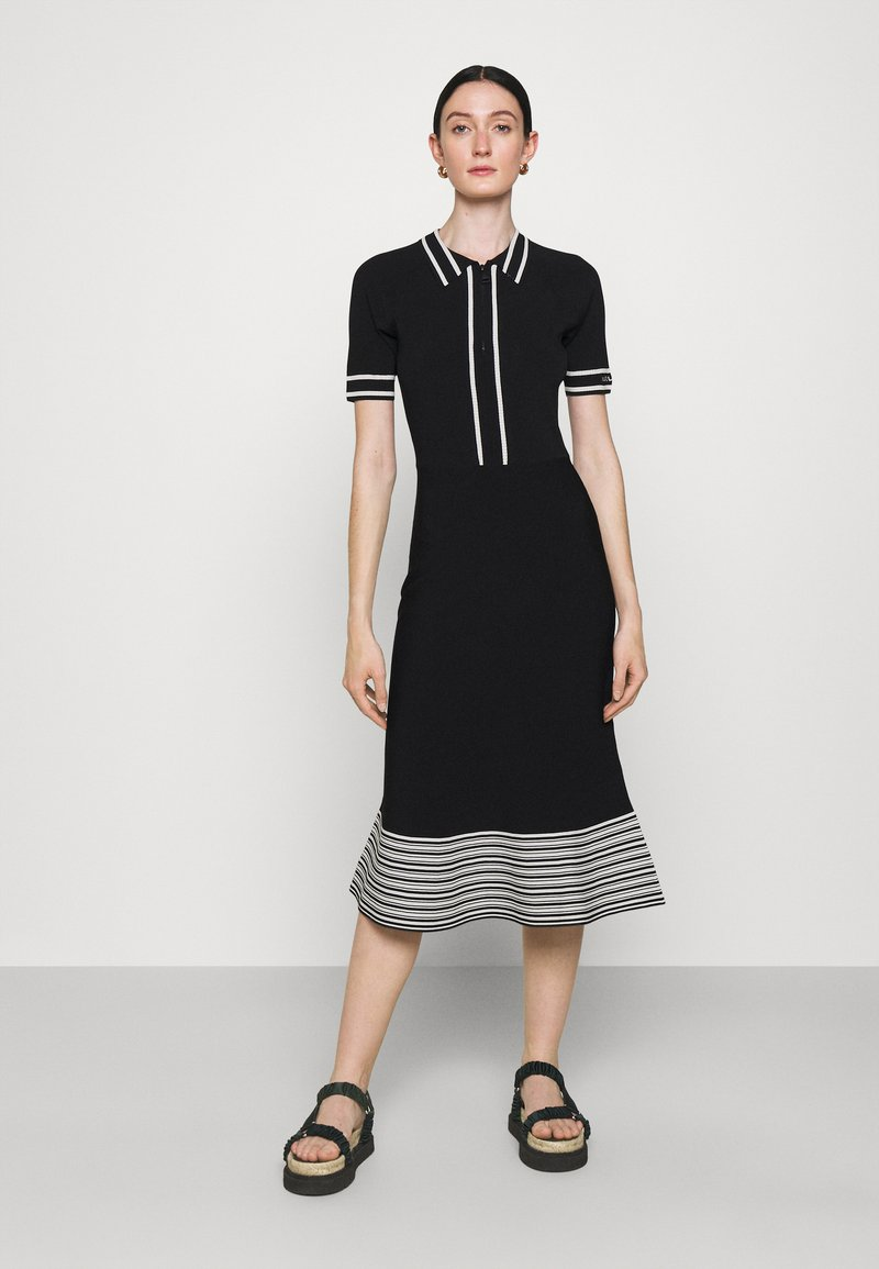 KARL LAGERFELD - FLAIR DRESS - Sukienka dzianinowa - black