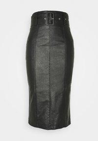 Glamorous - BELTED PENCIL SKIRT - Pencil skirt - black - 0