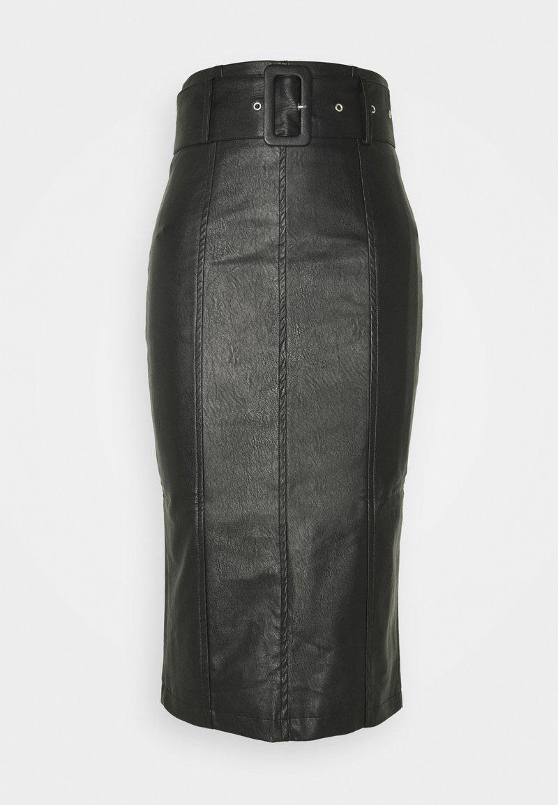 Glamorous - BELTED PENCIL SKIRT - Pencil skirt - black