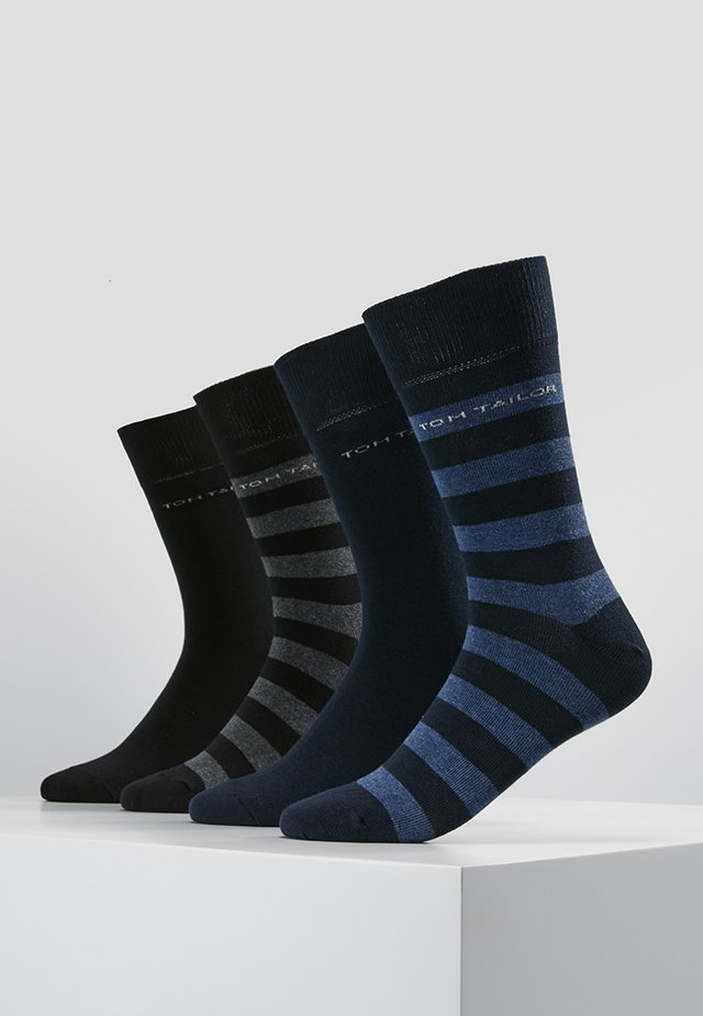 SOCKS STRIPES 4 PACK - Sokken - blau/schwarz