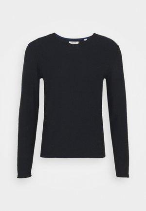 JJTHORN V NECK - Stickad tröja - navy blazer