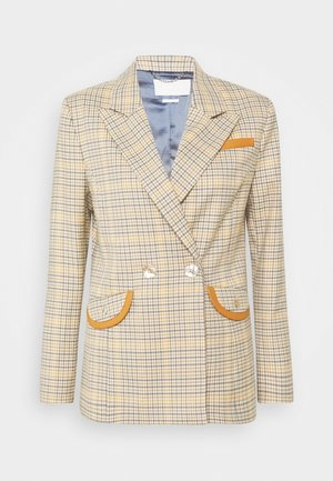 CHECKED - Blazer - sunset orange