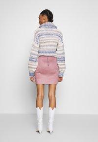 ONLY - ONLJULIE BONDED SKIRT - Mini skirt - adobe rose - 2