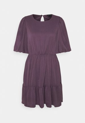 VMBARLETTA O NECK DRESS - Day dress - black plum