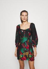 Farm Rio - JUNGLE COLORS MINI DRESS - Day dress - multi - 0