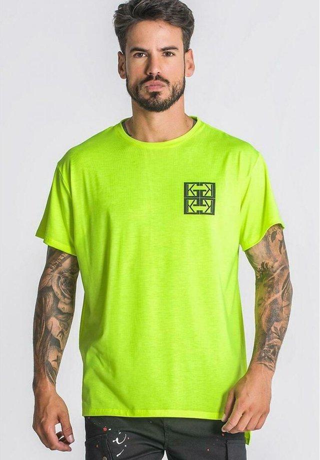 T-shirt imprimé - neon yellow