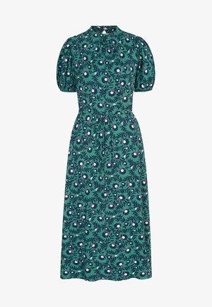 MIT PUFFÄRMELN - Jersey dress - salbeigrün, wilde brombeere