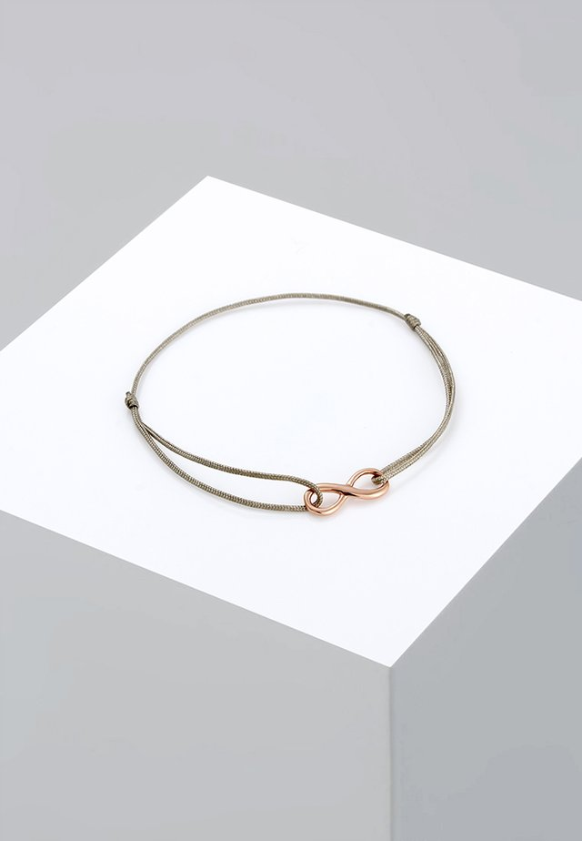 INFINITY TREND - Armband - rosegold-coloured/green