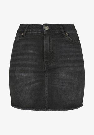 Denim skirt - real black washed