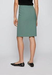 BOSS - VEROKI - Pencil skirt - light green - 2