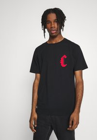 Cayler & Sons - BANNED SEMI BOX TEE - Print T-shirt - black/red - 0