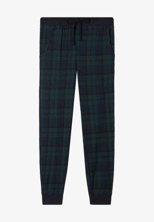 MIT TUNNELZUG - Tracksuit bottoms - dark blue/pine green tartan