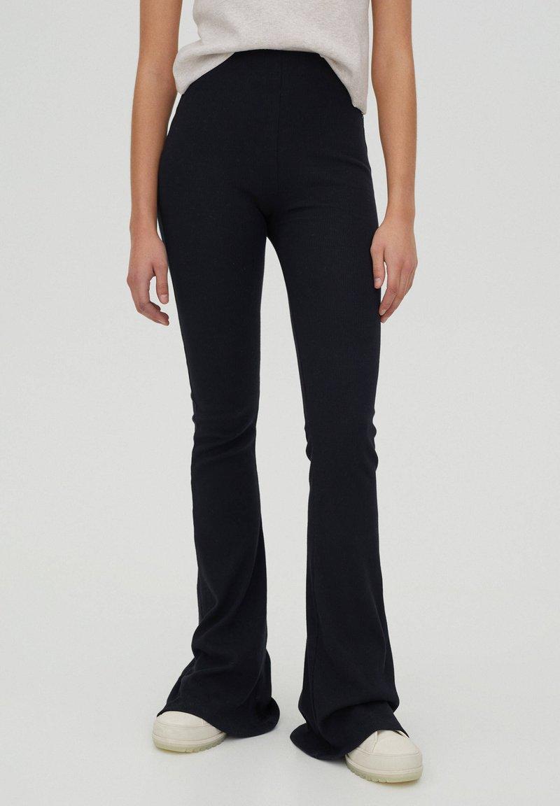 PULL&BEAR - Pantaloni - black