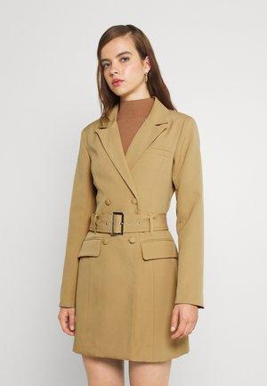 BELTED BLAZER DRESS - Shift dress - camel