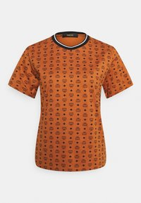 MCM - WOMENS VISETOS PRINT T-SHIRT - Print T-shirt - cognac - 0