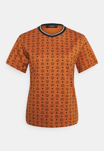 VISETOS SHORT SLEEVES TEE - Print T-shirt - cognac
