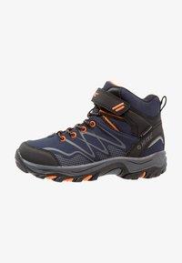Hi-Tec - BLACKOUT MID WP JR - Hiking shoes - navy/orange - 1